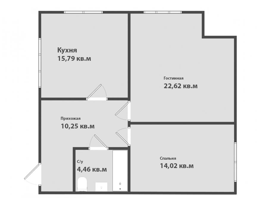 2-к квартира, ул. Петропавловская 6, 67.14 м², 4/4 эт.