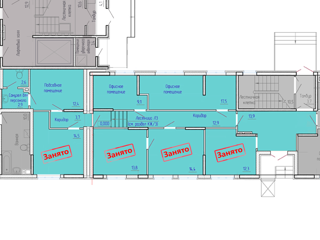 Офисные помещения в ЖК «Березовая роща-2» - Фотография 2