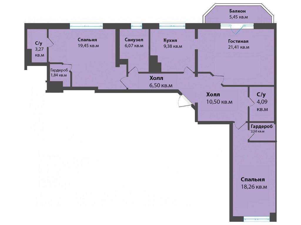 3-к квартира, ул. К. Леонова 49а, 108.82 м², 12/3 эт.,2с.