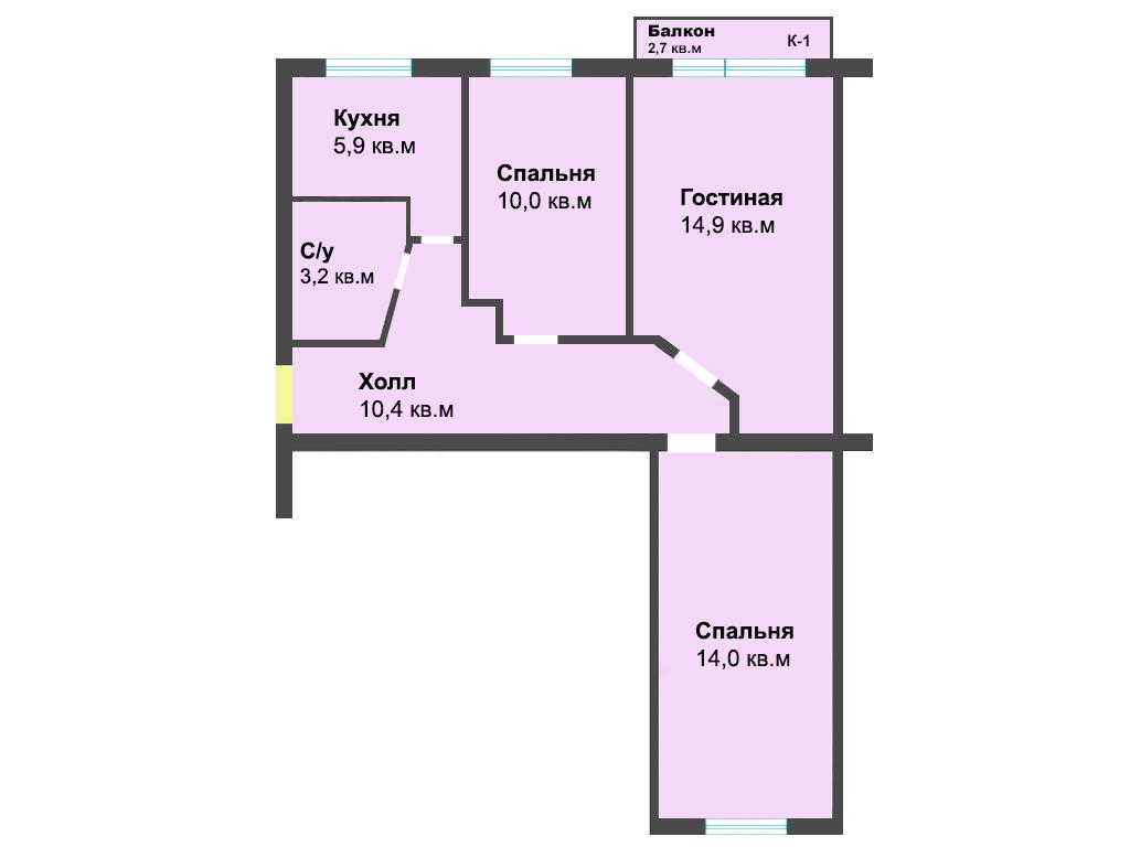 3-к квартира, ул. Банковская 12, 61.1 м², 3/5 эт. с ГОТОВЫМ РЕМОНТОМ, МЕБЕЛЬЮ - Фотография 1