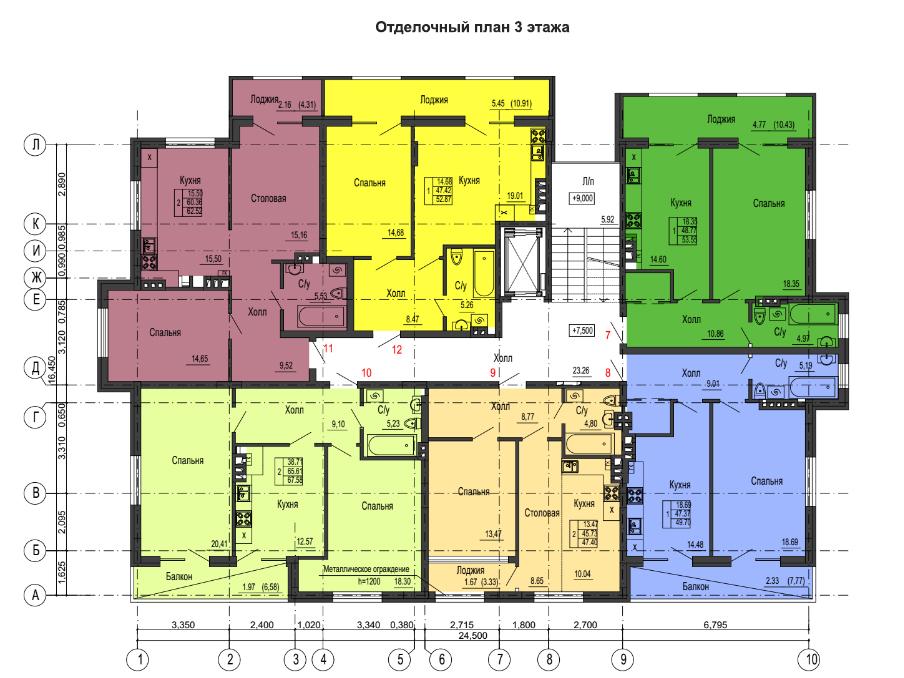 1-к квартира, ул. Красносельская 58, 47.4 м², 6/3 эт. - Фотография 2