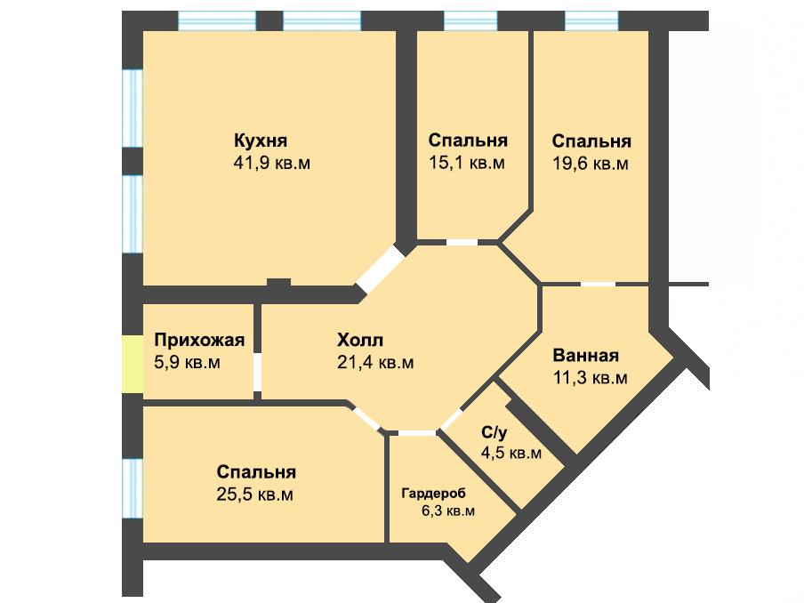 3-к квартира, ул. Энгельса 59а, 151.5 м², 3/1 эт.