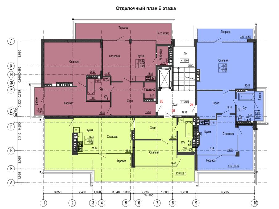 1-к квартира, ул. Красносельская 58, 83.97 м², 6/6 эт. - Фотография 2