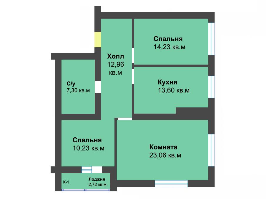 3-к квартира, ул. Елизаветинская 3, 84.10 м², 9/9 эт.,6с.