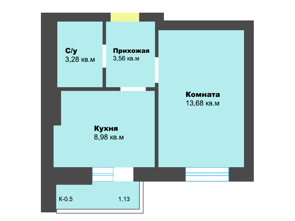 1-к квартира, ул. Карамзина (дом 5, этап 2), 31.76 м², 9/10 эт.