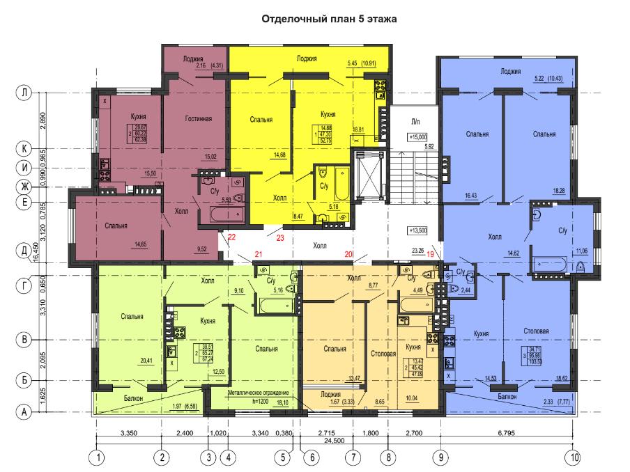 2-к квартира, ул. Красносельская 58, 67.24 м², 5/6 эт. - Фотография 2