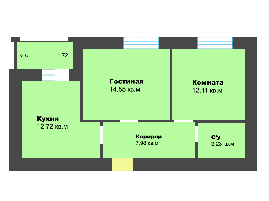 2-к квартира, ул. Карамзина (дом 5, этап 2), 53.13 м², 9/10 эт. - Фотография 1