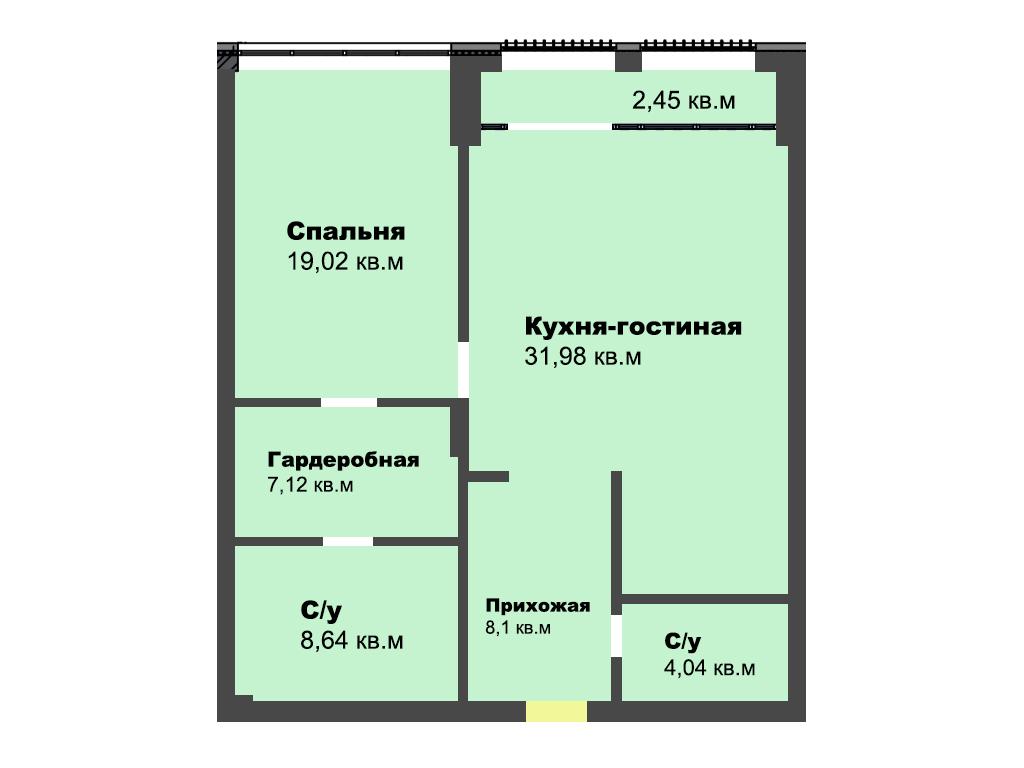 2-к квартира, ул Огарева 3-5, 81.80 м², 1/4 эт., кв.3 - Фотография 1