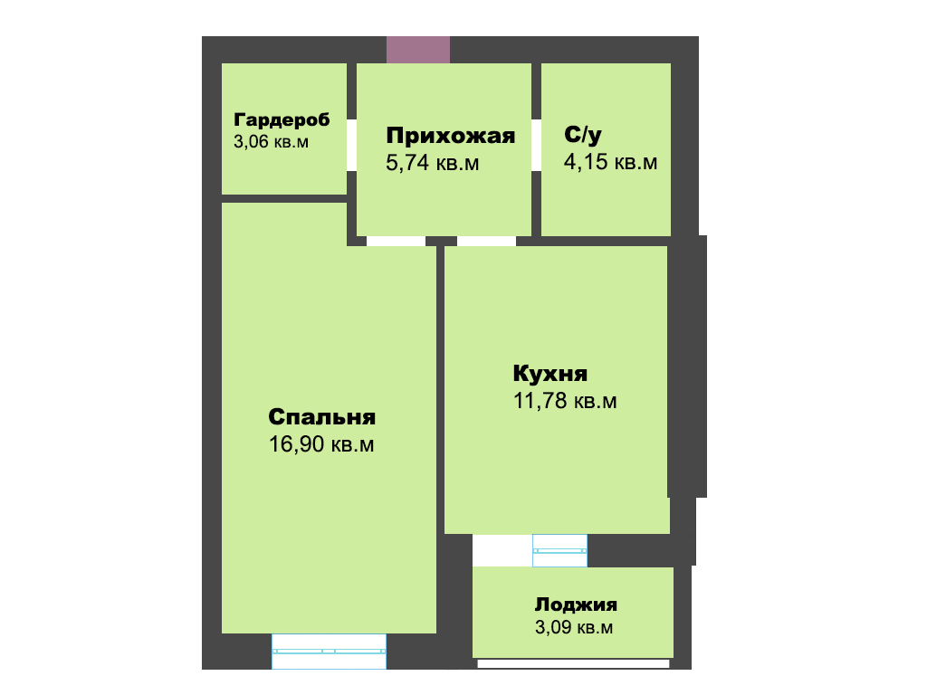 1-к квартира, г. Зеленоградск, ул. Октябрьская, 23, 44.72 м², 3/5 эт., 3с.