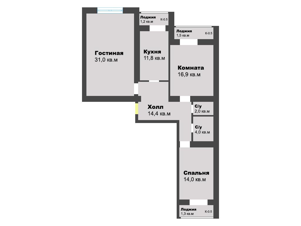 3-к квартира, ул. Старшины Дадаева 65, 98.1 м², 1/13 эт.