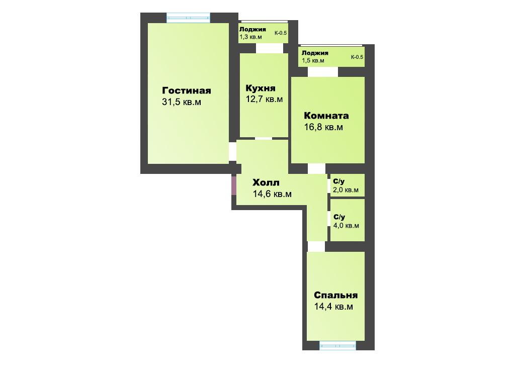 3-к квартира, ул. Старшины Дадаева 65, 99 м², 13/13 эт., 1с. - Фотография 1